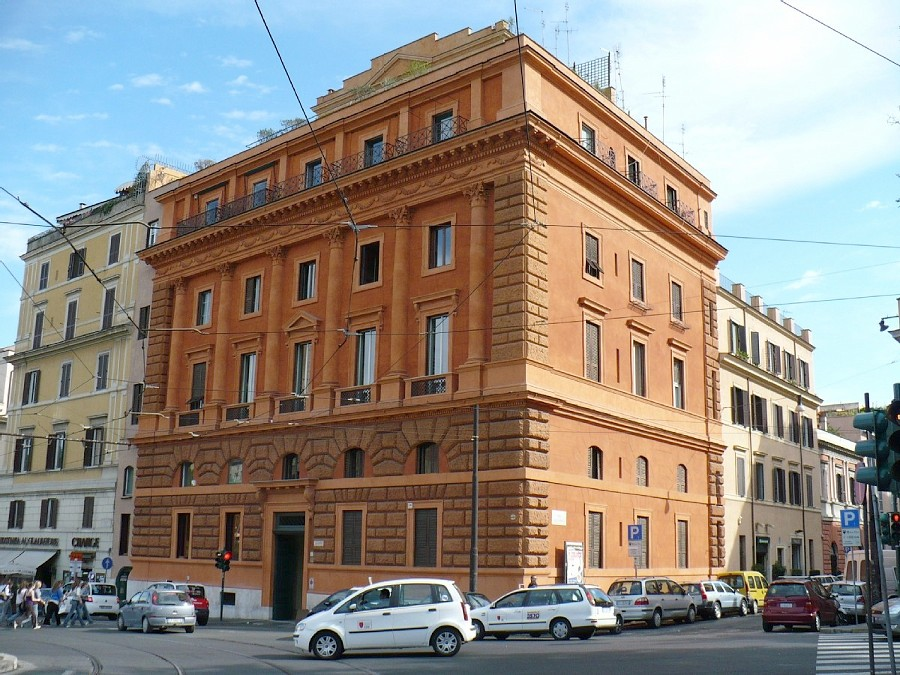 The apartment is situated on 3rd floor inside of a historical building